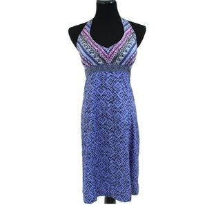 Athleta halter purple dress 12